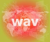 Digital Concept: Wav Word On Digital Screen