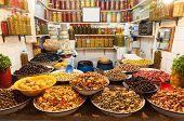 Market in the Medina Of Marrakesh
