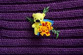 Little Yellow Toy Bear With Flower