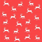 The Embroidered New Year's Ornament. Beaded Christmas Ornament Reindeer. Vector
