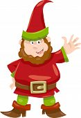 Gnome Or Dwarf Cartoon Illustration