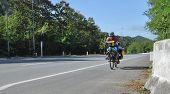 Man Riding Bicycle Travel