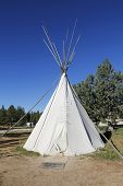 pic of teepee  - Traditional North American Teepee at RV Park near Zion National Park - JPG