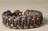 Two Color Paracord Macro Bracelet
