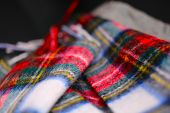 Scottish Plaid Neck Scarf