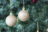 Christmas Decoration - Two Golden Balls