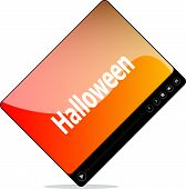 Video Movie Media Player With Halloween Word On It