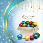 Christmas Box With Colored Balls