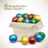 Box Christmas Colored Balls