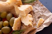 Parmesan Cheese And Olives