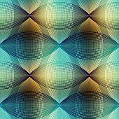 Geometric pattern on blur seagreen background.