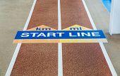 Start Line On Running Track