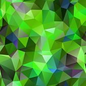Seamless green polygonal background