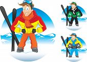Vector illustration of cartoon winter guy