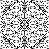 Design Seamless Monochrome Spider Web Pattern