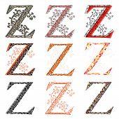 Various Combination Fishnet Letter Z.