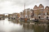 Lange Haven In Schiedam with Jenever museum
