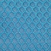 Close - up Blue PVC mesh pattern background seamless