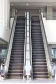 Close - up escalator in the modern building