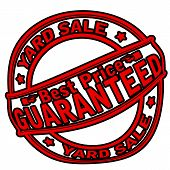 picture of yard sale  - Rubber stamp with text yard sale inside vector illustration - JPG