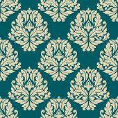Dainty damask style seamless pattern