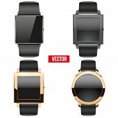 Set of original Smart design example wrist watch.