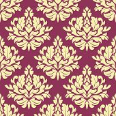 Vintage purple damask design