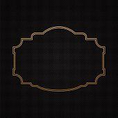 Golden classic frame, border on textured background