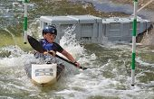 Young Competitor in competition at Bedford Viking Kayak Club