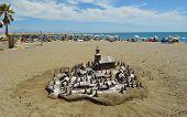 Beach Sand Sculture Spain.