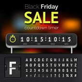 Black Friday sale countdown timer