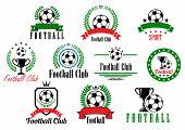 Set of football club badges and emblems