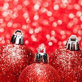 Beautiful Red Christmas Balls