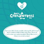 a set of blue background with white text for grandparents' day