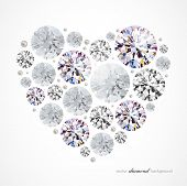 Abstract background with diamond heart