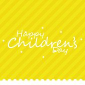 a yellow background with text for children's day