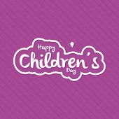 a purple background with text for children's day