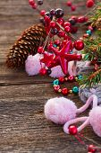 christmas decorations with  wool socks