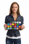Model With Color Test Card