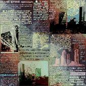 Grunge newspaper with city image.