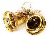 golden bells isolated on white