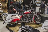 Motorcycle On Display At Eicma 2014 In Milan, Italy