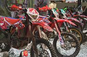 Motocross Bikes At Eicma 2014 In Milan, Italy