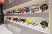 Stylish Helmets On Display At Eicma 2014 In Milan, Italy