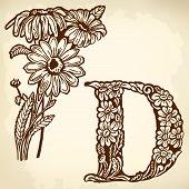 daisy Letter D