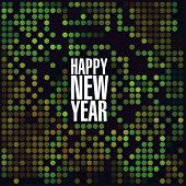 Sparkling lights new year vector template.