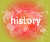 Time Concept: History On Digital Background