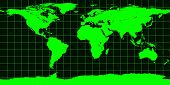 Worldmap In Green