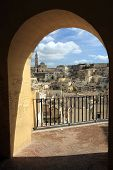 View of old Matera in Italy
