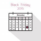 Flat holiday calendar icon